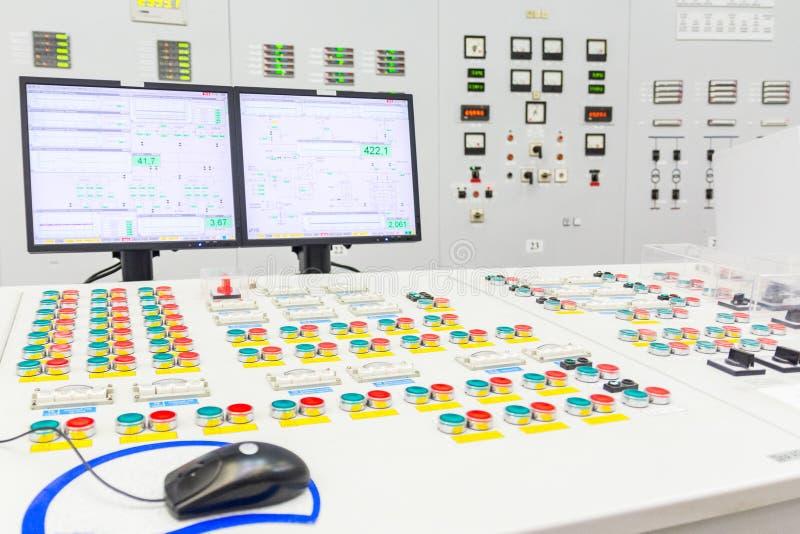 Bräde för kvarterreaktorkontroll av kärnkraftverket royaltyfri fotografi