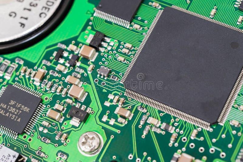 Bräde för utskrivaven strömkrets med olika processorer royaltyfria foton