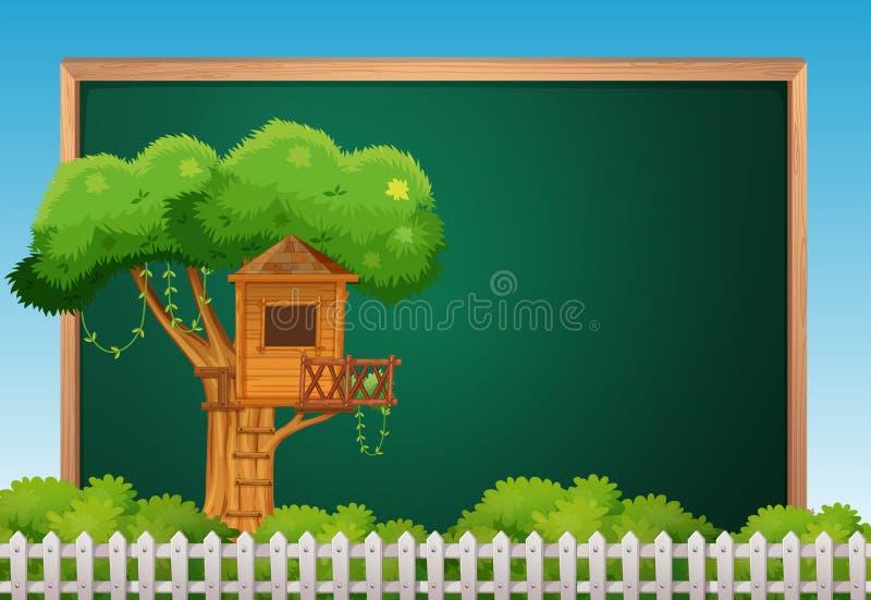 Download Brädemall med treehousen vektor illustrationer. Illustration av plats - 78730653