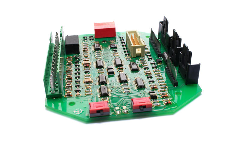 bräden circuit elektroniskt royaltyfri bild