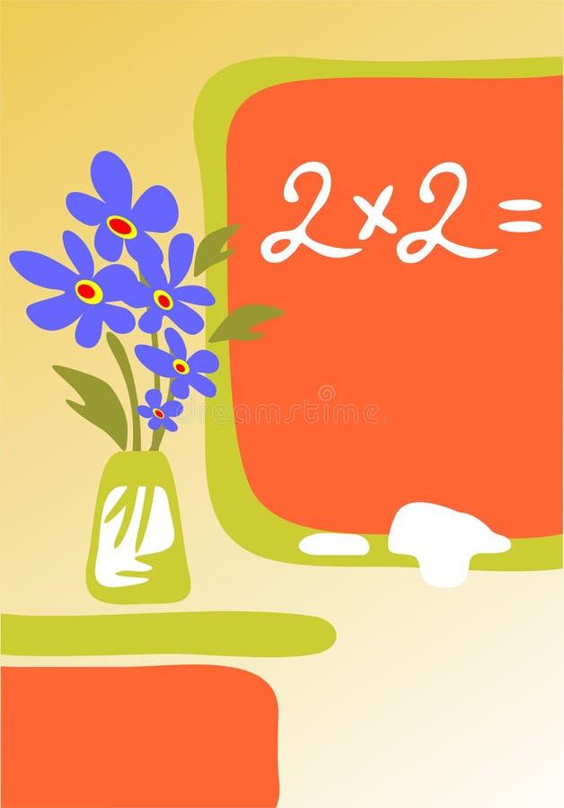 brädet blommar skolan stock illustrationer