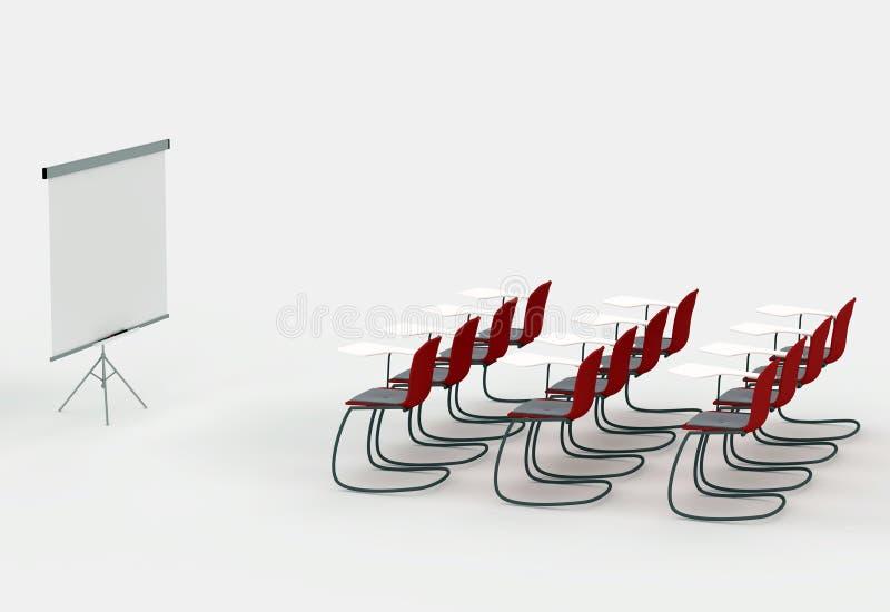brädet chairs markörlokalutbildning fotografering för bildbyråer