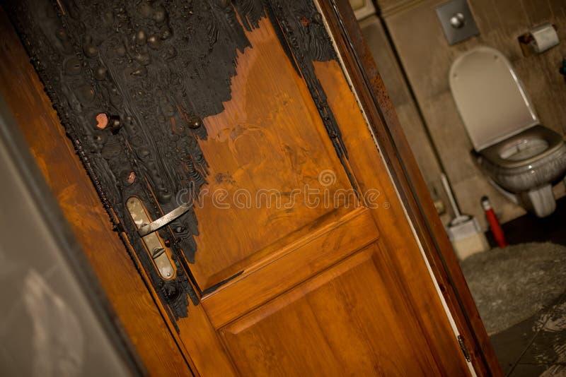 bränd lägenhet royaltyfria foton
