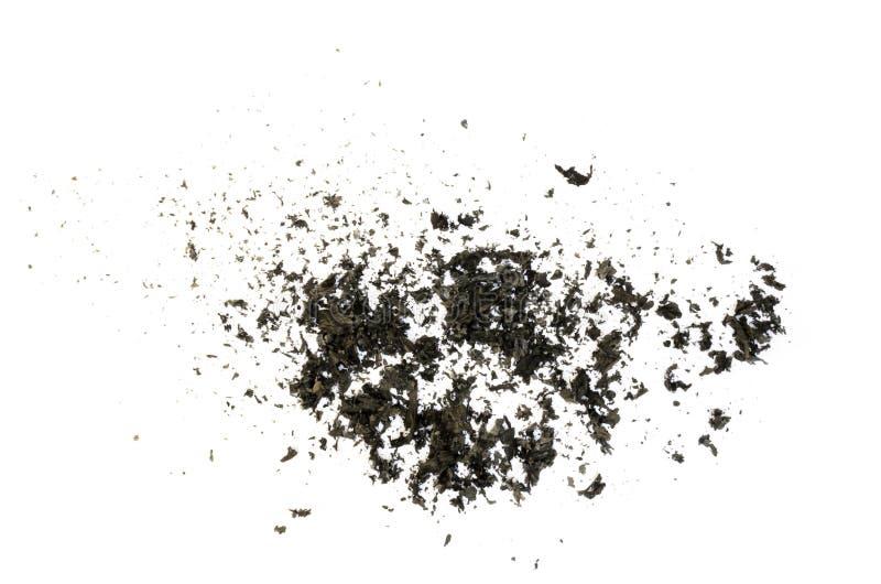 Bränd pappers- askatextur fotografering för bildbyråer