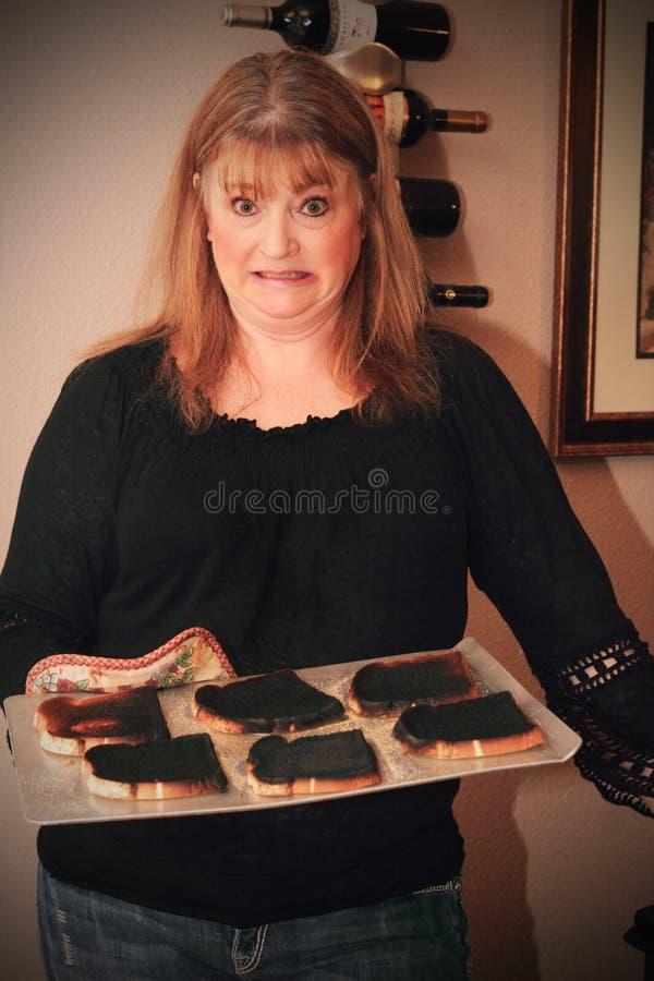 bränd rostat bröd arkivbild