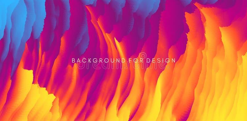 Bränna eld Abstrakt bakgrund Moderna mönster Vektorillustration för design royaltyfri illustrationer