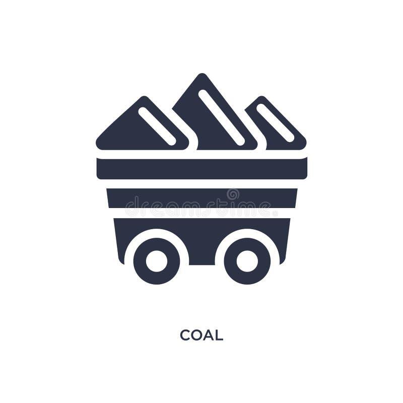 bränna till kol symbolen på vit bakgrund Enkel beståndsdelillustration från ekologibegrepp royaltyfri illustrationer