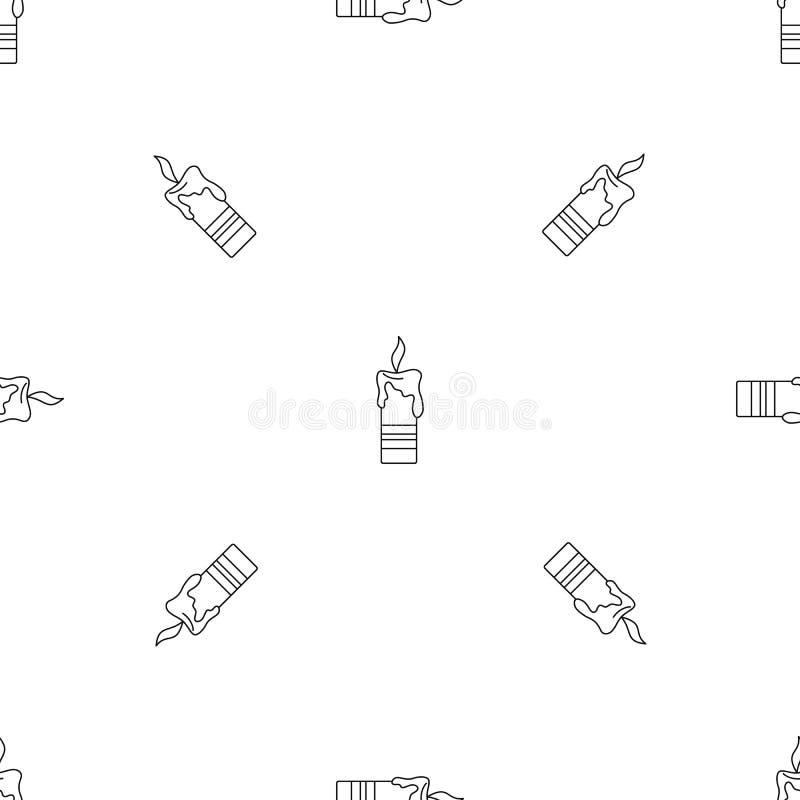 Brännande sömlös vektor för stearinljusmodell vektor illustrationer