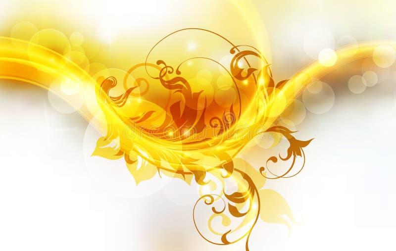 brännhet bakgrund vektor illustrationer