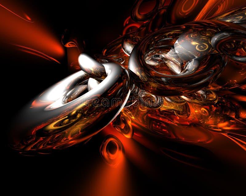 brännhet bakgrund royaltyfri illustrationer
