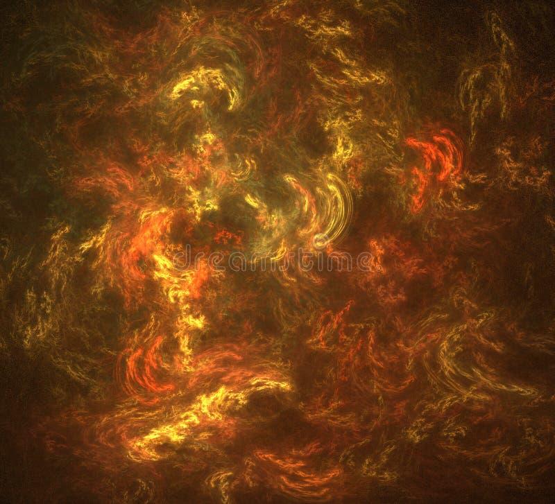 brännhet bg stock illustrationer