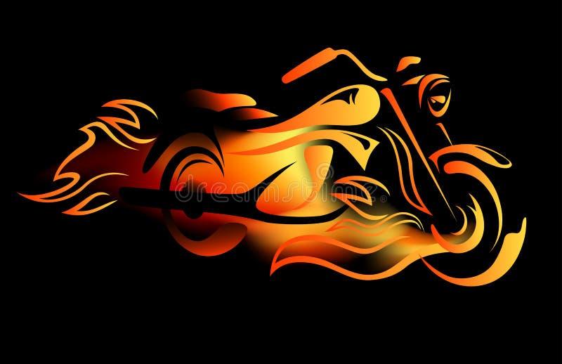 brännhet cykel vektor illustrationer