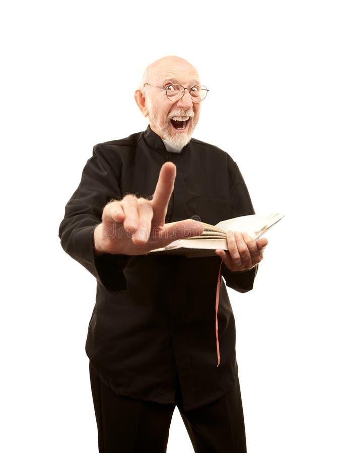 brännhet geende pastorpredikan royaltyfri fotografi