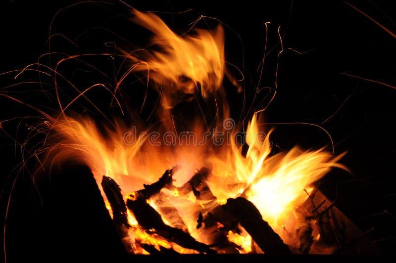 Brännhet jäkel arkivfoton