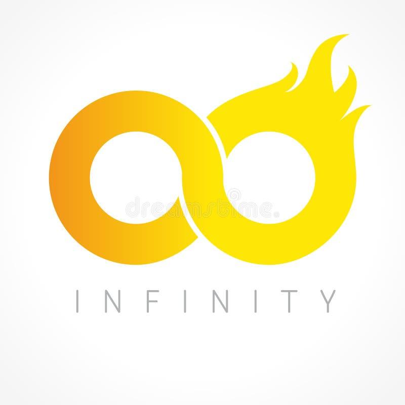 Brännhet logo för oändlighet royaltyfri illustrationer