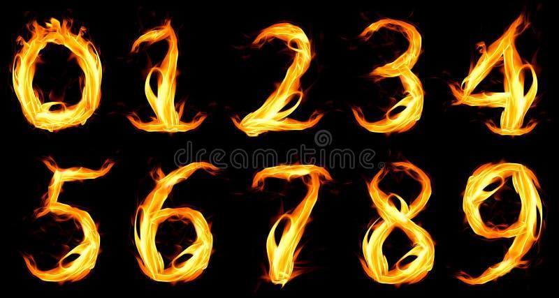 brännhett nummer nolla vektor illustrationer