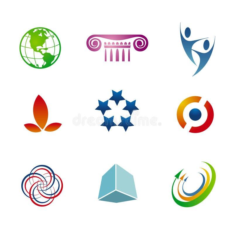 brännmärka logomallar royaltyfri illustrationer
