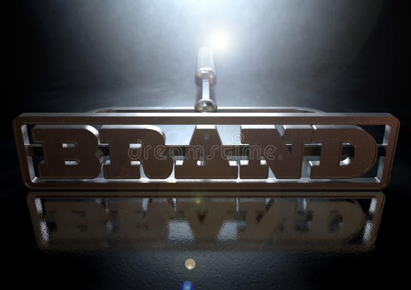 Brännmärka märkesbegrepp royaltyfri foto