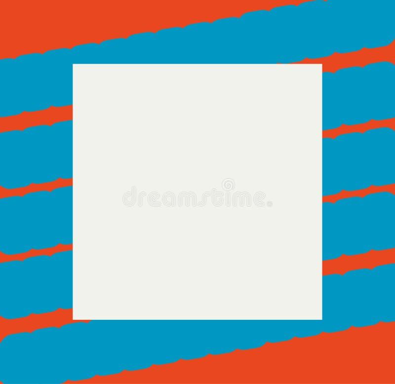 Brännmärka orienteringen med att intressera blåa band stock illustrationer