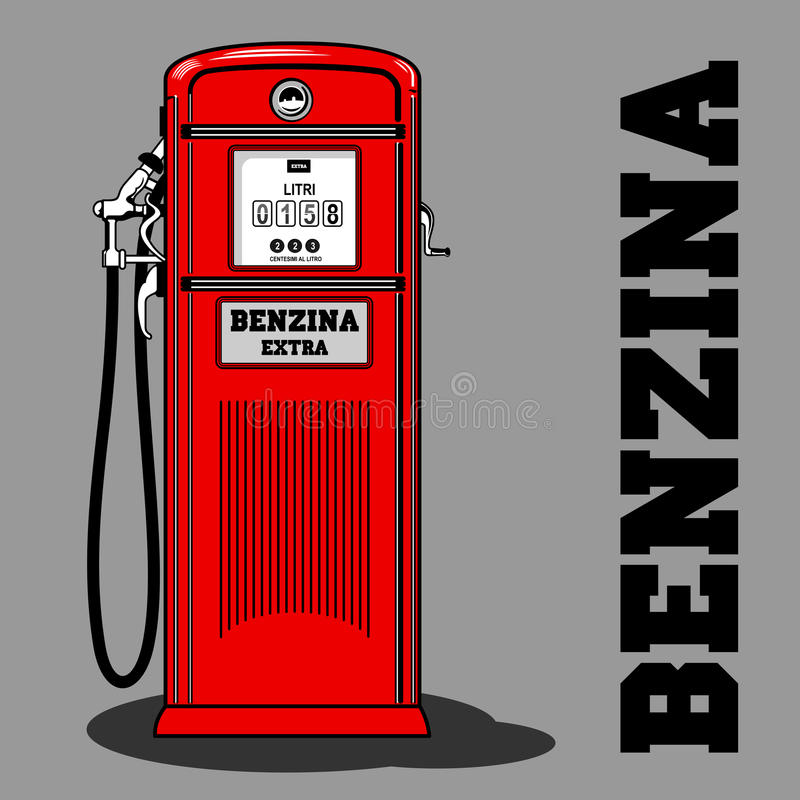 Bränsle Pump_1 stock illustrationer