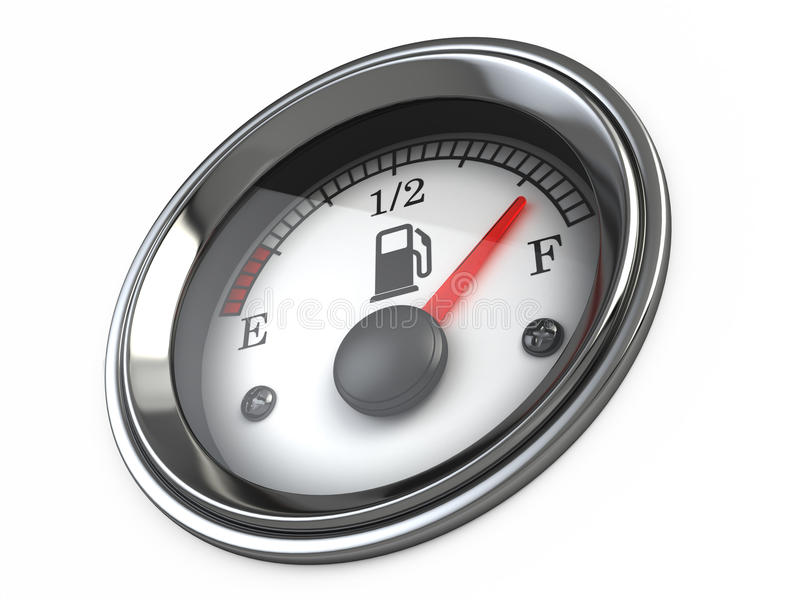 bränslegauge stock illustrationer