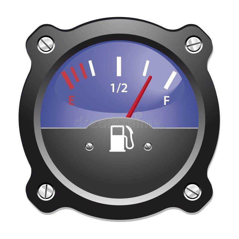 Bränslemått stock illustrationer