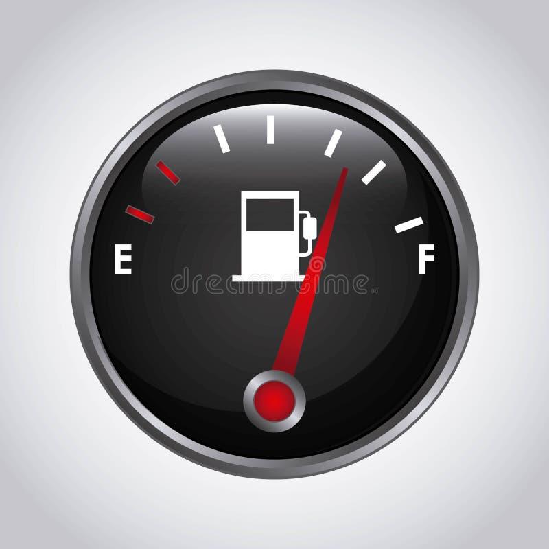 Bränslemeter stock illustrationer