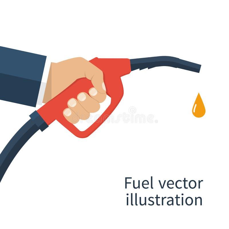 Bränslepump i hand stock illustrationer
