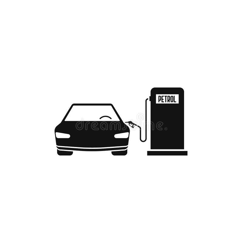 bränslestationsbensin och bil begrepp av bilen som fyller EPS10 royaltyfri illustrationer