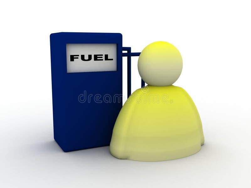 bränslesymbol royaltyfri illustrationer