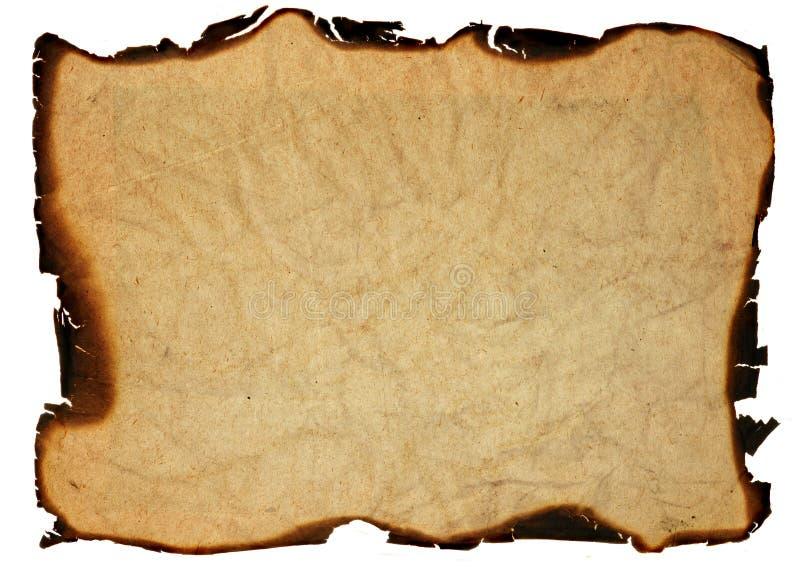 bränt gammalt papper för kanter royaltyfri foto
