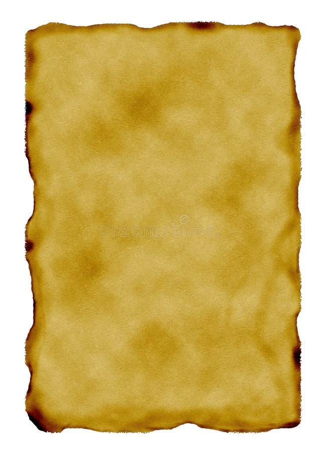 bränt gammalt sidapapper arkivbilder