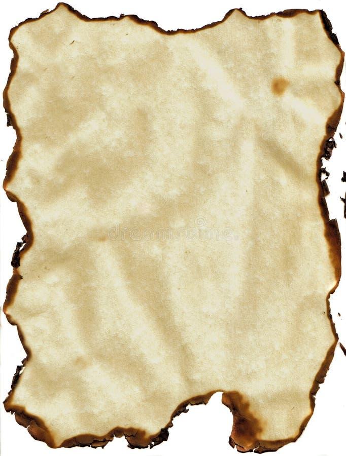 bränt kantpapper royaltyfri illustrationer