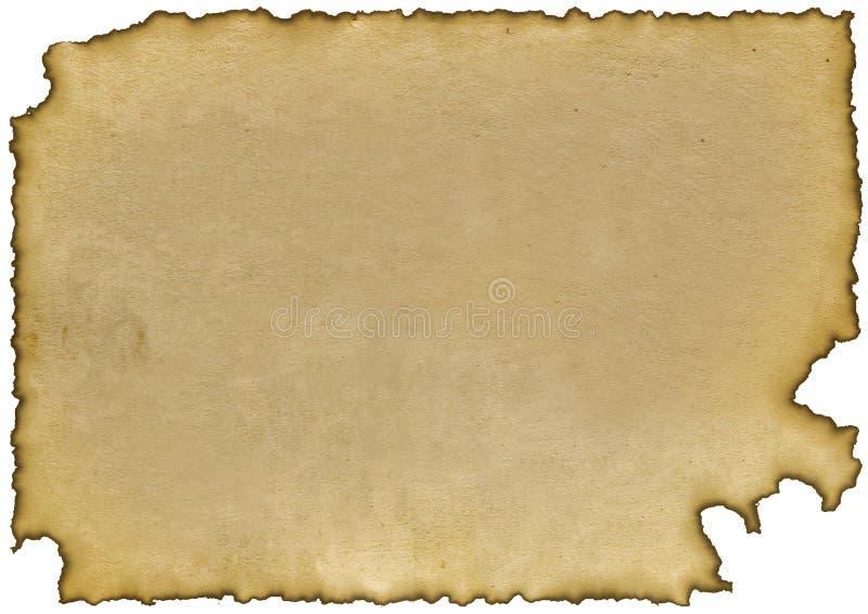 bränt papper royaltyfri illustrationer