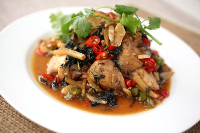 Bräserad fisk royaltyfria foton