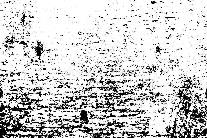 Bråtetextur Svart grus på genomskinlig bakgrund Bekymrat träbräde stock illustrationer