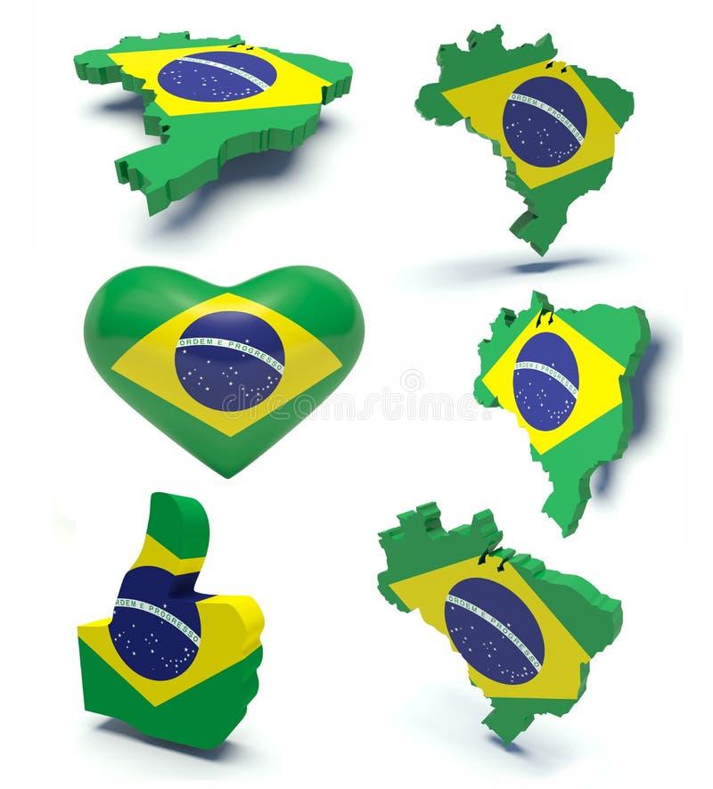 Brésil  illustration de vecteur