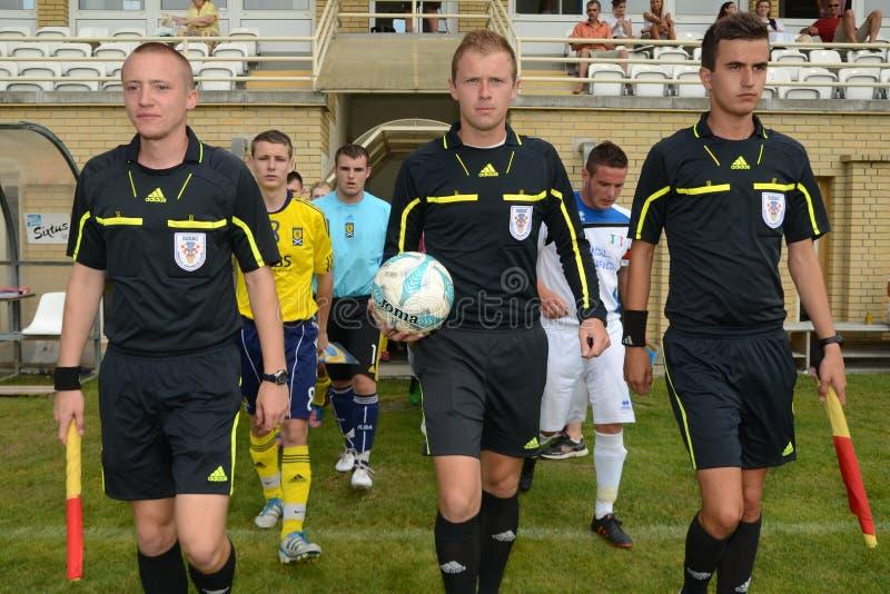 Bríxia - SYFA sob o jogo de futebol 17 fotos de stock royalty free