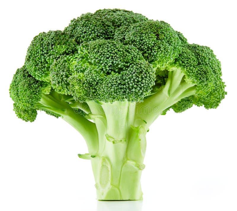 Brócolis crus isolados foto de stock royalty free