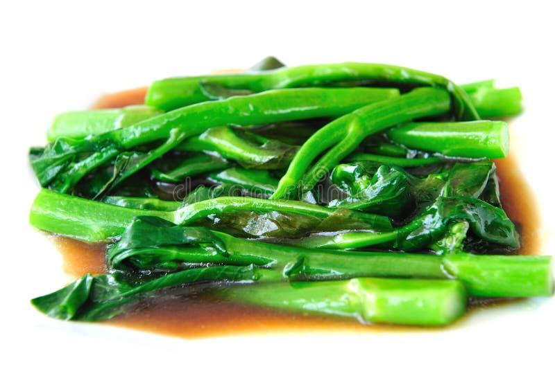 Bróculi con la salsa de la ostra fotos de archivo