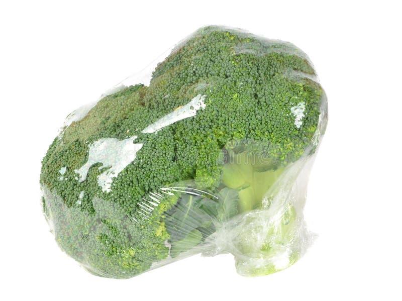 Bróculi fresco en hoja fresca fotografía de archivo
