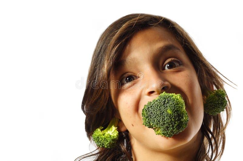 Bróculos crescentes foto de stock