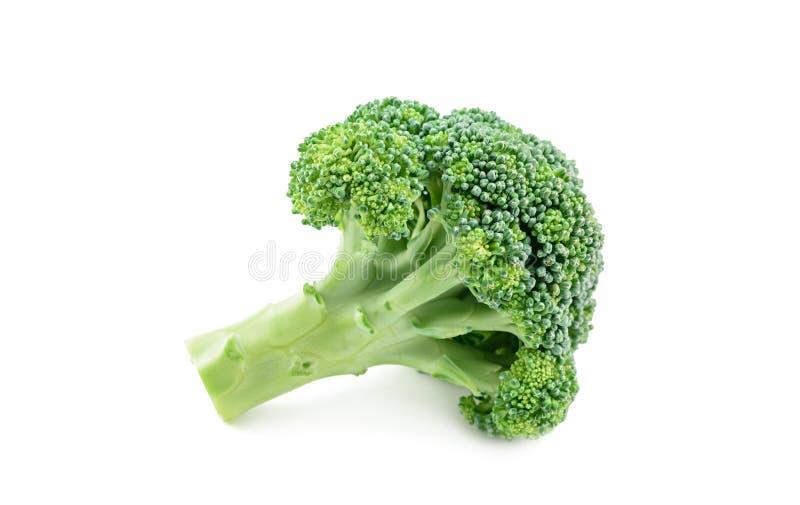 Bróculos frescos isolados no branco fotografia de stock