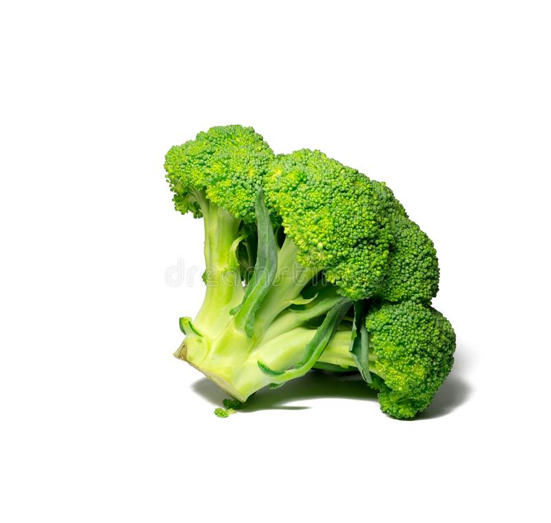 Bróculos isolados no branco alimento, objeto imagem de stock royalty free