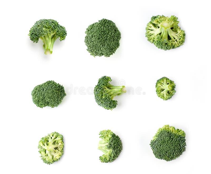 Bróculos isolados no fundo branco  foto de stock