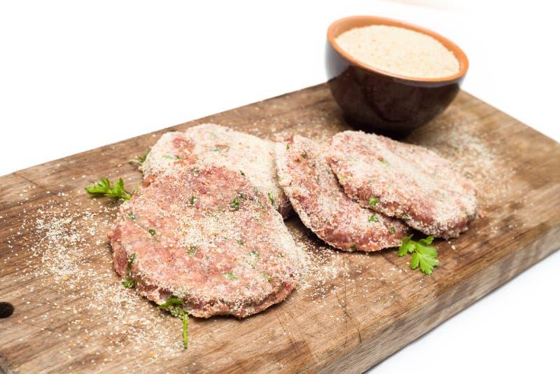 Bröade hamburgare royaltyfria bilder