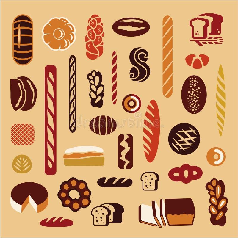 Bröd bagerit vektor illustrationer