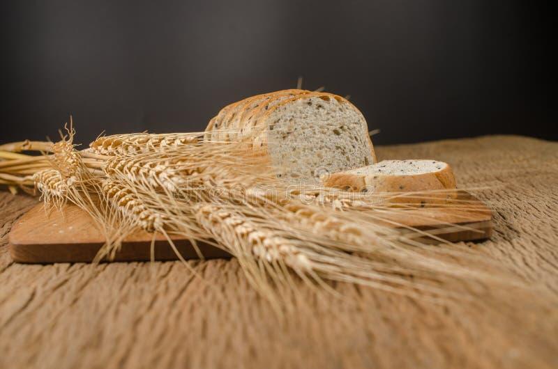 bröd för helt vete med svart sesam- och kornkorn royaltyfria foton