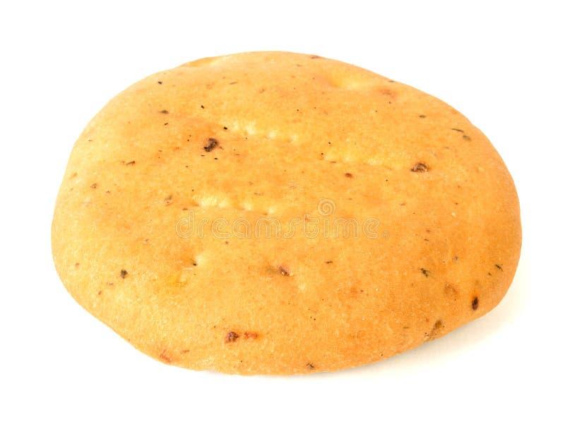 Bröd från vetemjöl som isoleras på vit bakgrund royaltyfria bilder