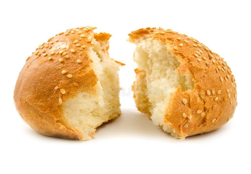 bröd halves vete två royaltyfri fotografi